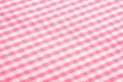 背景方格花布粉红色 免版税库存照片