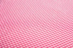 背景方格花布粉红色 免版税库存图片