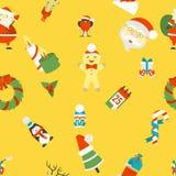 背景无缝圣诞节的模式 库存照片