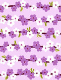 背景无缝开花的樱桃 免版税库存图片