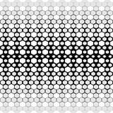 背景无缝的向量 抽象黑白多角形样式 图库摄影