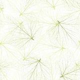 背景无缝的向量 有静脉的绿色叶子 免版税库存图片