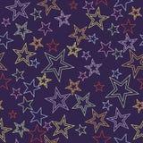 背景无缝的星形 向量例证