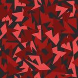 背景无缝的样式现代伪装红色 免版税库存图片