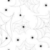 背景无缝的蜘蛛 库存图片