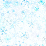 背景无缝的降雪 向量例证