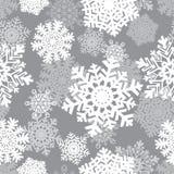 背景无缝的雪花冬天 寒假和圣诞节背景 免版税图库摄影
