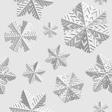 背景无缝的雪花冬天 寒假和圣诞节背景 免版税库存照片