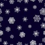 背景无缝的雪花冬天 寒假和圣诞节背景 免版税库存图片
