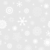 背景无缝的雪花 免版税库存图片