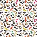 背景无缝的鞋子 免版税库存图片