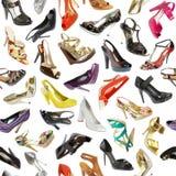 背景无缝的鞋子 免版税库存照片