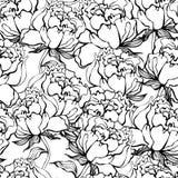 背景无缝花的玫瑰 图库摄影