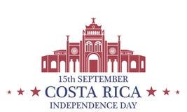 背景日减速火箭grunge的独立 哥斯达黎加 免版税库存照片