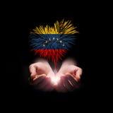 背景日减速火箭grunge的独立 欢迎光临委内瑞拉 库存照片