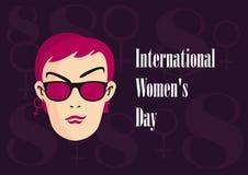 背景日国际红色印花税白人妇女 免版税库存图片