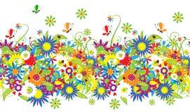 背景日花卉无缝的夏天 库存图片