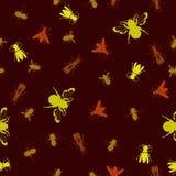 背景昆虫无缝蜇 免版税库存图片