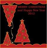 背景明亮的动画片圣诞节 库存照片