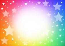 背景明亮的星形 向量例证