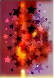 背景明亮的星形 库存照片