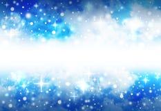 背景明亮的空间闪耀星形 向量例证