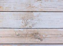 背景明亮的grunge 被风化的委员会水平线 木纹理 免版税库存图片