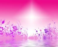 背景明亮花卉 库存图片