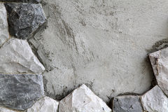 背景是可能向纹理使用的墙壁扔石头 图库摄影