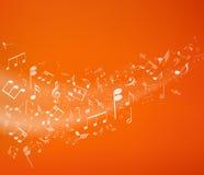 背景是能使用的不同的例证音乐目的 图库摄影
