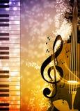 背景是能使用的不同的例证音乐目的 免版税图库摄影