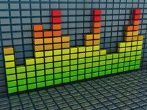 背景是能使用的不同的例证音乐目的 免版税库存图片