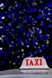背景是象可能签署出租汽车使用 图库摄影