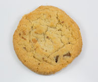 背景曲奇饼查出的白色 库存照片