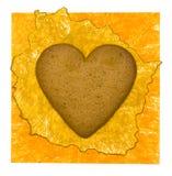 背景曲奇饼重点纸张黄色 免版税库存图片