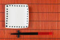 背景最佳的席子寿司 免版税库存照片