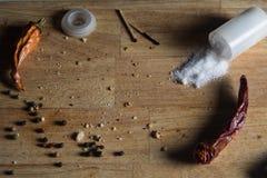 背景木切板用香料 库存照片