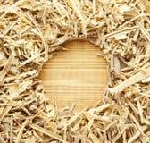 背景木锯木屑的削片 库存照片