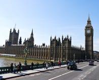 背景本大蓝色伦敦天空英国 库存照片
