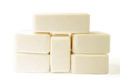 背景本质肥皂白色 库存照片