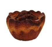 背景杯形蛋糕查出的白色 免版税库存照片