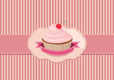 背景杯形蛋糕 免版税图库摄影