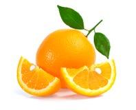 背景果子查出的橙色白色 免版税库存照片