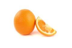 背景果子查出的橙色白色 免版税图库摄影