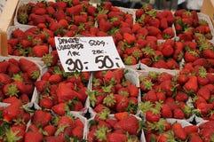 背景果子查出的草莓白色 免版税库存照片