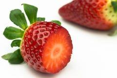 背景果子查出的草莓白色 免版税图库摄影