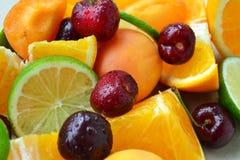 背景果子混合白色 免版税库存照片