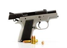 背景枪查出的白色 免版税库存照片