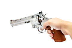 背景枪现有量藏品查出的白色 图库摄影