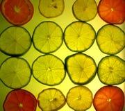 背景柑橘黄色 库存图片